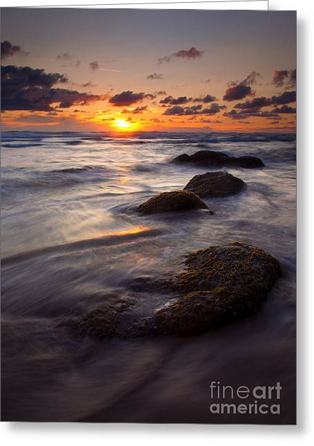 Hugging Greeting Cards - Hug Point Tides Greeting Card by Mike  Dawson