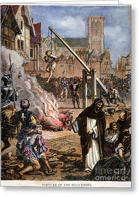 Persecution Greeting Cards - Huguenot Persecution Greeting Card by Granger