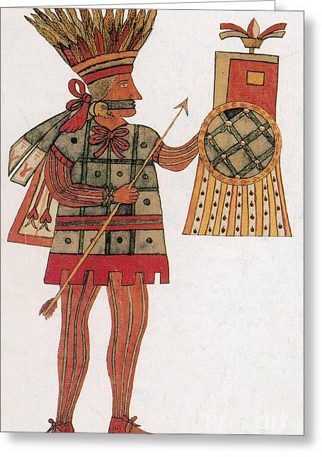 Human Sacrifice Artwork Greeting Cards - Huitzilopochtli, Aztec God Of War Greeting Card by Photo Researchers