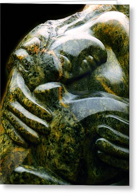 Ancient Sculptures Greeting Cards - Hula Kahiko Greeting Card by Angela Treat Lyon