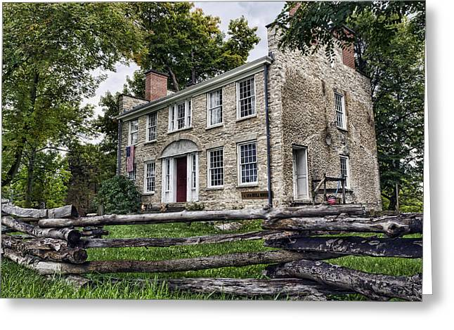Western New York Greeting Cards - Hull House 1810 Greeting Card by Peter Chilelli