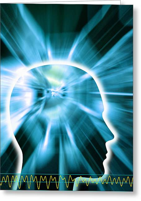 Human Awareness Greeting Cards - Human Consciousness Greeting Card by Pasieka