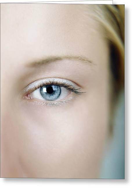 Eyebrow Greeting Cards - Human Eye Greeting Card by Cristina Pedrazzini