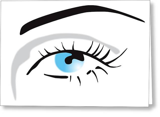 Eyelash Greeting Cards - Human Eye Greeting Card by David Nicholls