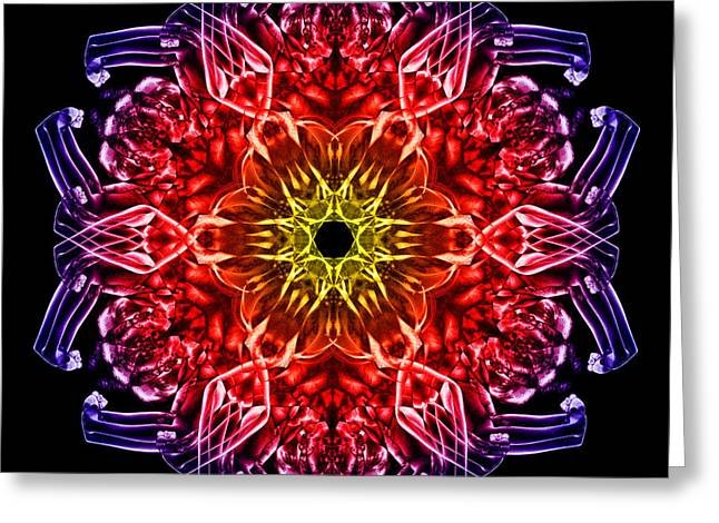 Humandala 2 Greeting Card by David Kleinsasser