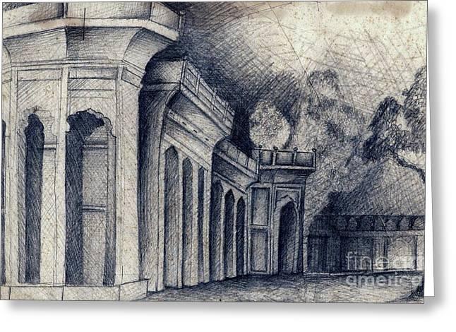 Humayun Tomb Greeting Card by Rohinibhan Challu