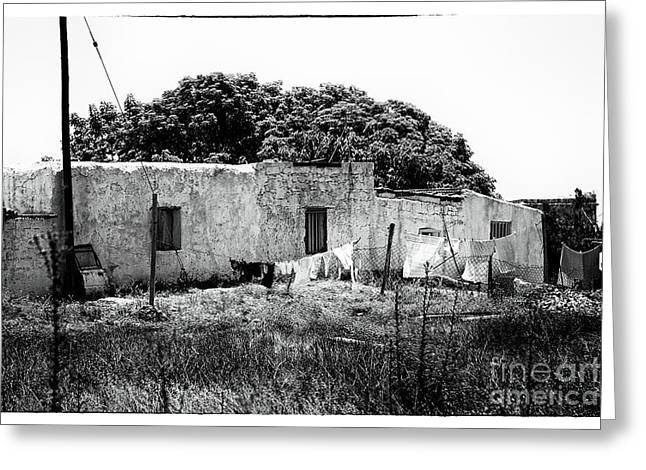 Old School House Greeting Cards - Humble Beginnings Greeting Card by John Rizzuto