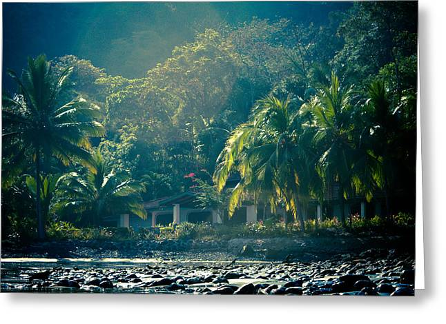 Costa Greeting Cards - Humid Paradise Greeting Card by Anthony Doudt