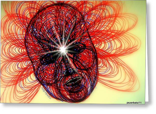 Metaphysics Greeting Cards - Humming Mass Of Raw Experience Greeting Card by Paulo Zerbato
