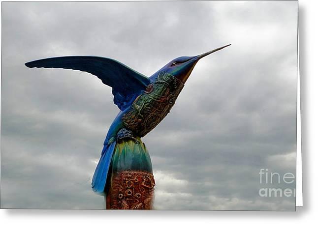 Hovering Greeting Cards - Hummingbird Art II Greeting Card by Al Bourassa