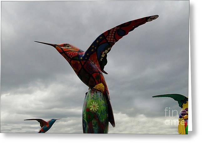 Hovering Greeting Cards - Hummingbird Art IV Greeting Card by Al Bourassa