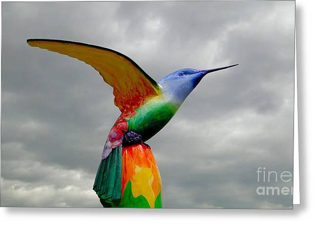 Hovering Greeting Cards - Hummingbird Art VII Greeting Card by Al Bourassa
