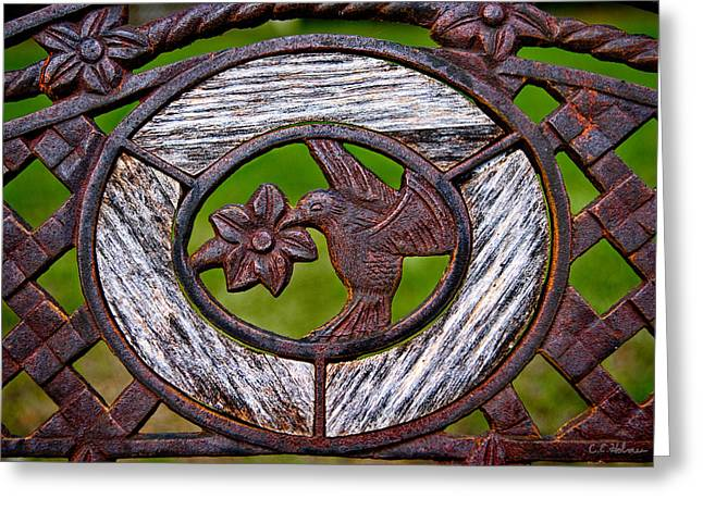 Ocularperceptions Greeting Cards - Hummingbird In Iron Greeting Card by Christopher Holmes