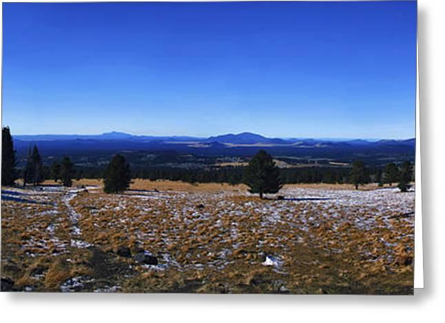 Snowbowl Greeting Cards - Humphreys Panoramic Greeting Card by Anthony Citro