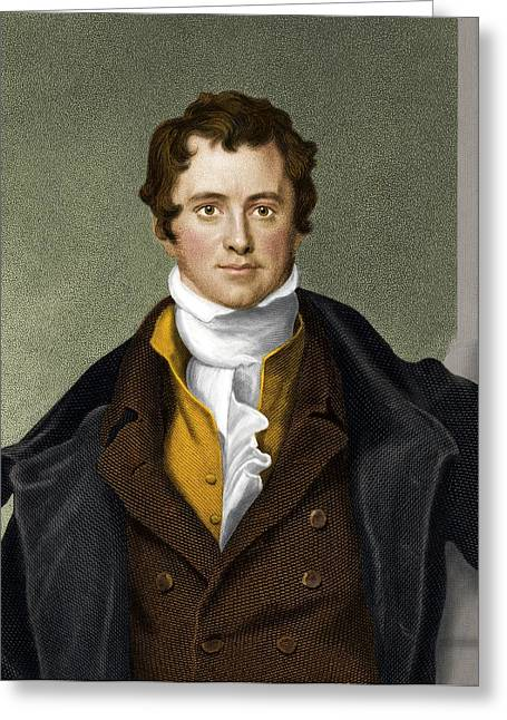Pioneer Illustration Greeting Cards - Humphry Davy, British Chemist Greeting Card by Maria Platt-evans