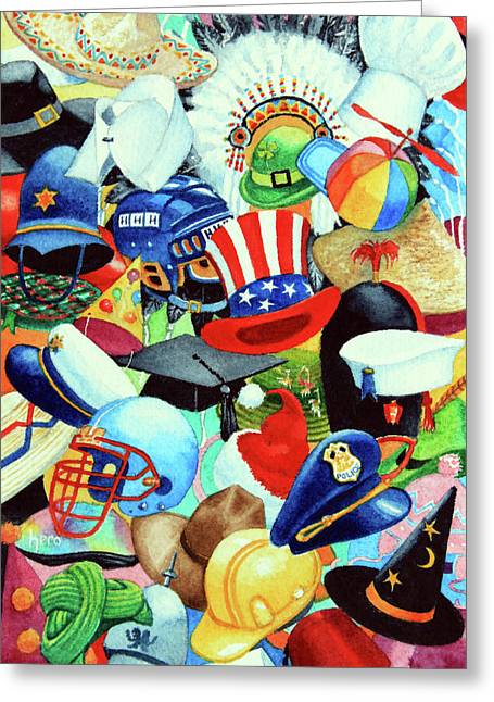Graduation Party Greeting Cards - Hundreds of Hats Greeting Card by Hanne Lore Koehler