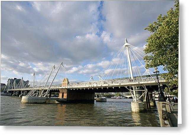 Charing Cross Bridge Greeting Cards - Hungerford Bridge, London, Uk Greeting Card by Carlos Dominguez