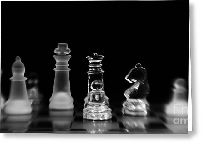 Chess Greeting Cards - Hunt For The King Greeting Card by Priska Wettstein