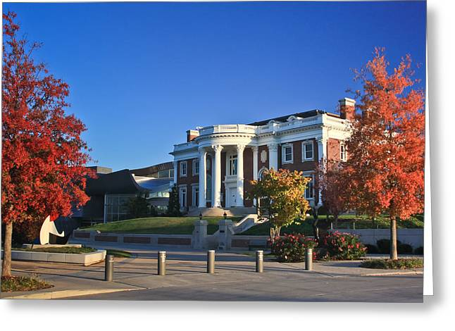 Chattanooga Tn Greeting Cards - Hunter Museum in Autumn Greeting Card by Tom and Pat Cory