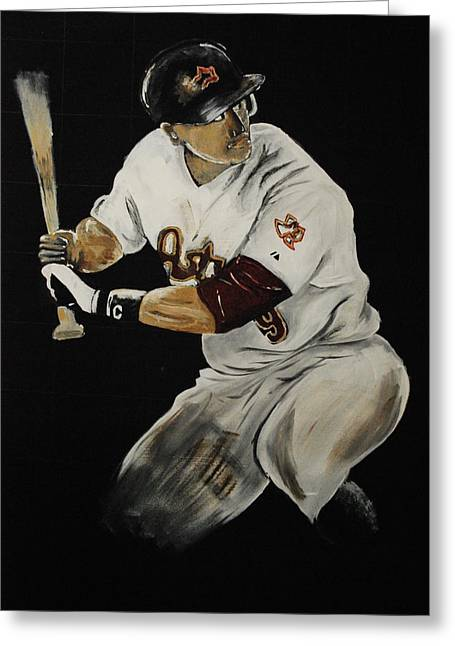 Houston Astros Paintings Greeting Cards - Hunter Pence 2 Greeting Card by Leo Artist