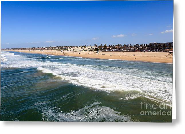 Townhouses Greeting Cards - Huntington Beach Orange County California Greeting Card by Paul Velgos