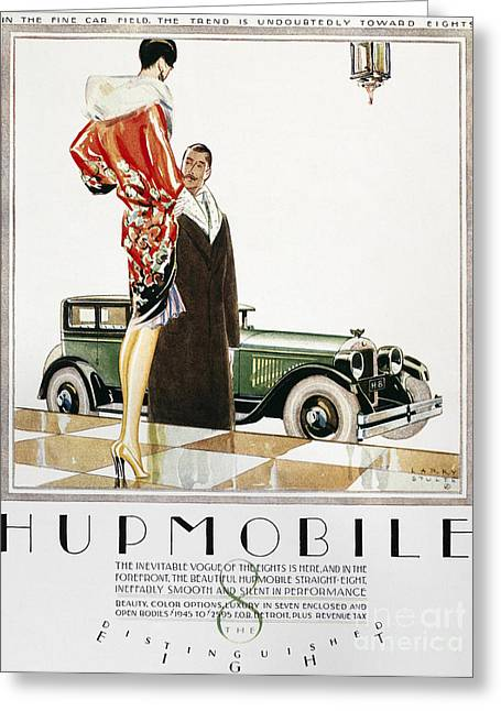 American Automobiles Greeting Cards - Hupmobile Ad, 1926 Greeting Card by Granger