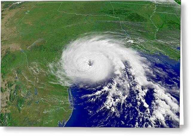 Claudette Greeting Cards - Hurricane Claudette Hits Texas Greeting Card by Padre Art