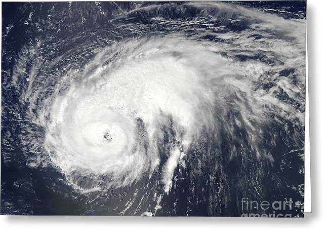 Natural Disaster Greeting Cards - Hurricane Danielle Greeting Card by Stocktrek Images