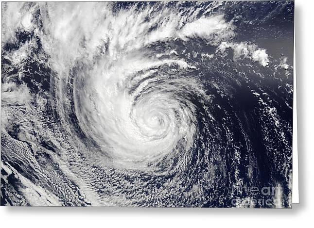 True Colors Greeting Cards - Hurricane Ele Greeting Card by Stocktrek Images