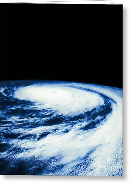 Outerspace Greeting Cards - Hurricane Fefa Greeting Card by Science Source