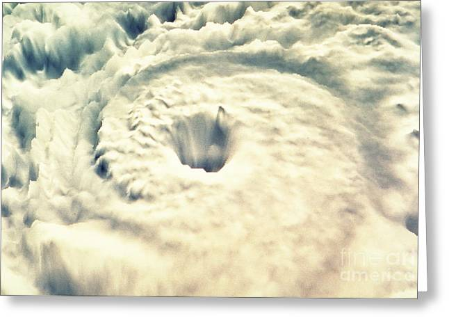 Storm Damage Greeting Cards - Hurricane Greeting Card by Fritz Hasler & Hal Pierce / Science Source