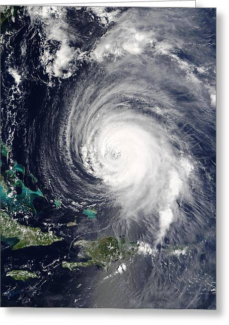 Hispaniola Greeting Cards - Hurricane Isabel, 15th September 2003 Greeting Card by Nasa