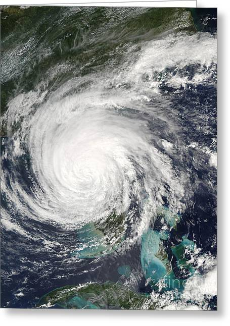 True Colors Greeting Cards - Hurricane Jeanne Greeting Card by Stocktrek Images