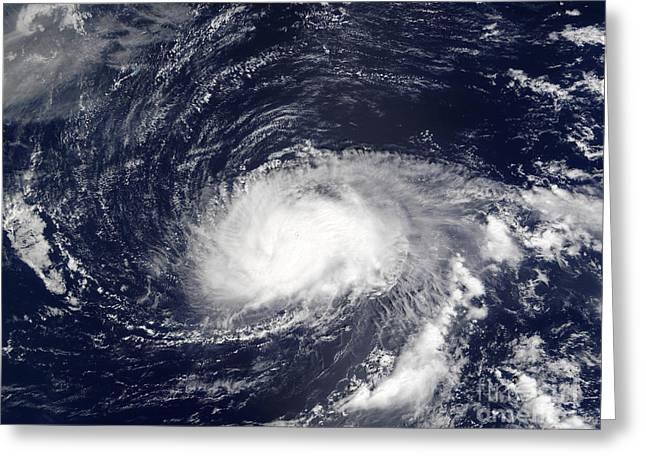 Atlantic Ocean.disaster Greeting Cards - Hurricane Kyle Greeting Card by Stocktrek Images