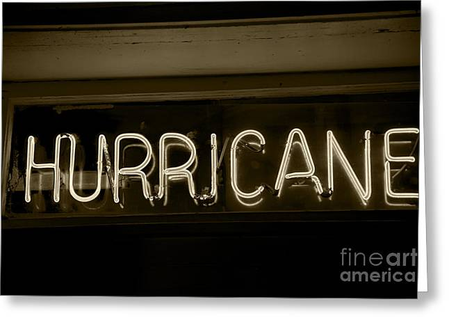 Leslie Leda Greeting Cards - Hurricane Greeting Card by Leslie Leda