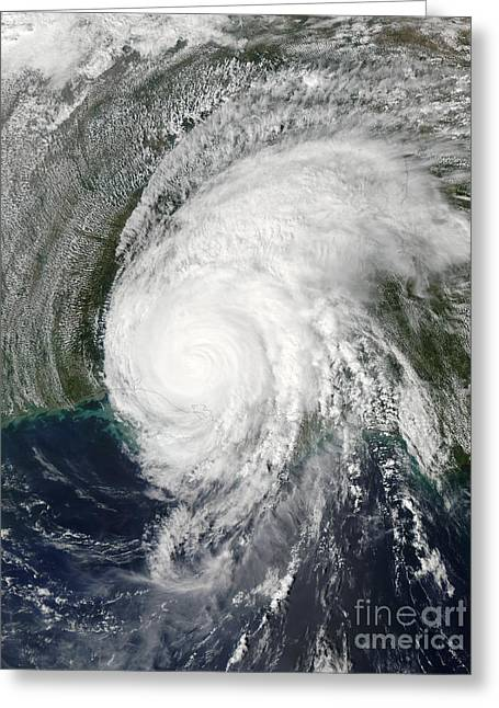 Lili Greeting Cards - Hurricane Lili Greeting Card by Stocktrek Images