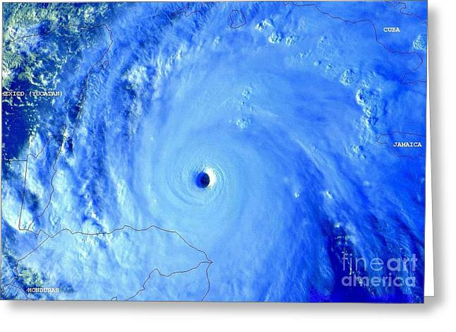 Hurricane Mitch 195 Mph Wind Greeting Card by Padre Art