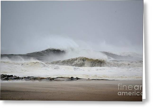 My Ocean Greeting Cards - Hurricane Sandy 02 Greeting Card by Artie Wallace