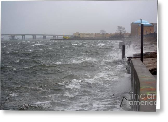 My Ocean Greeting Cards - Hurricane Sandy 05 Greeting Card by Artie Wallace