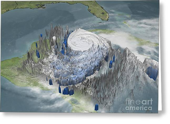 3 October Greeting Cards - Hurricane Wilma Greeting Card by NASA / Science Source