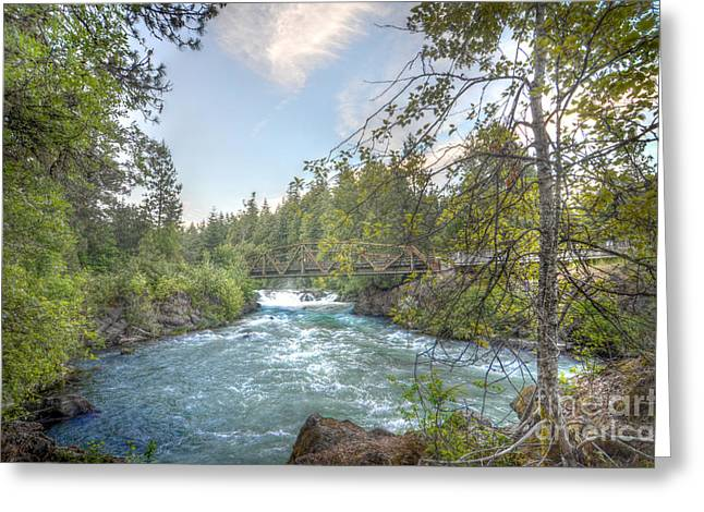 White Salmon River Greeting Cards - Husum Falls at Dusk Greeting Card by Kevin Felts