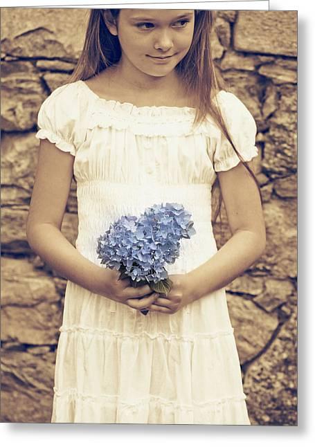 Picking Greeting Cards - Hydrangea Greeting Card by Joana Kruse