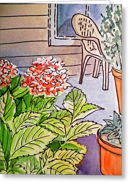 Sketch Book Greeting Cards - Hydrangea Sketchbook Project Down My Street Greeting Card by Irina Sztukowski