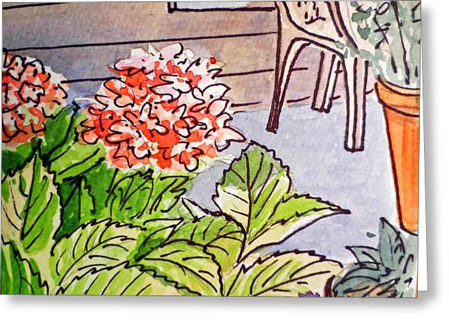 Hydrangea Sketchbook Project Down My Street Greeting Card by Irina Sztukowski