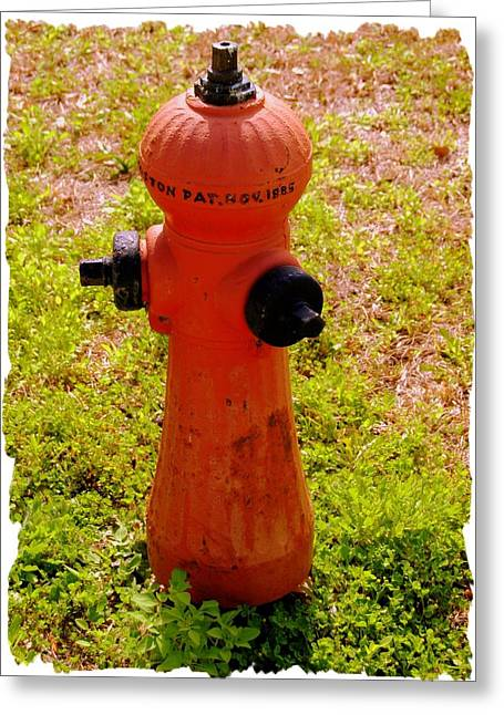 Fire Hydrants Greeting Cards - Hydrant 1885 Greeting Card by Andrew Armstrong  -  Mad Lab Images