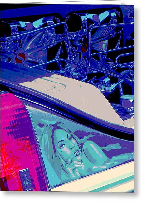 Tricked-out Cars Greeting Cards - Hydraulics Six Greeting Card by Chuck Re