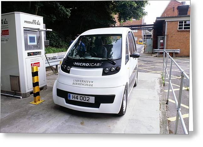 Refuelling Greeting Cards - Hydrogen Fuel Cell Car Greeting Card by Martin Bond