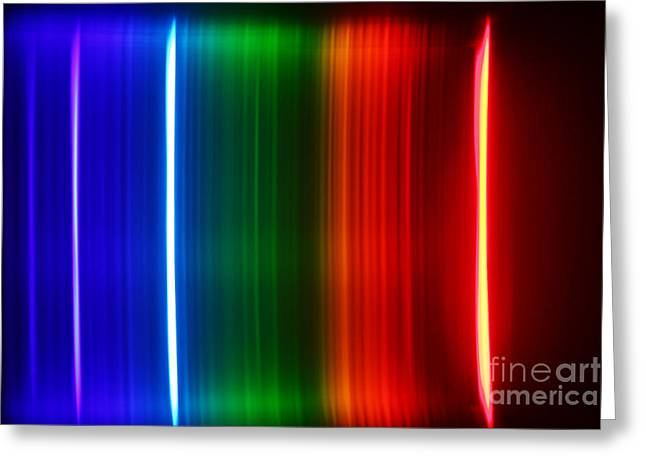 Spectra Greeting Cards - Hydrogen Spectra Greeting Card by Ted Kinsman