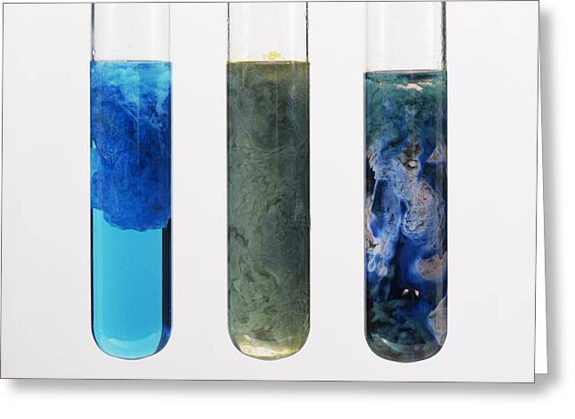 Hydroxide Greeting Cards - Hydroxide Precipitates Greeting Card by Andrew Lambert Photography