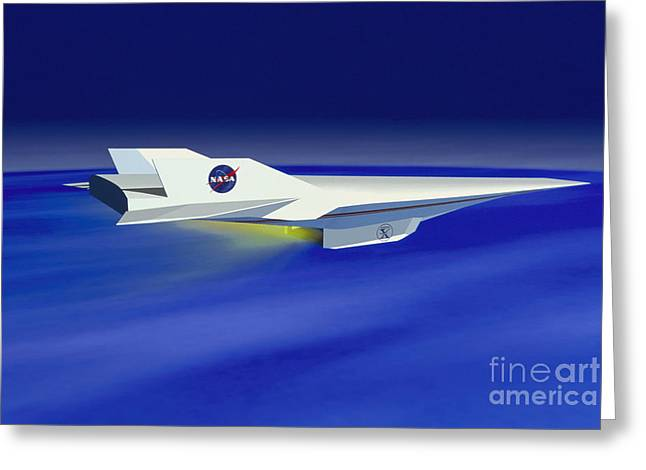X-plane Greeting Cards - Hyper-x Hypersonic Aircraft Greeting Card by Science Source